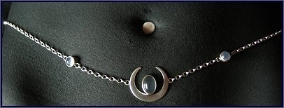 Moonstone jewellery, handmade with sterling silver and moonstone